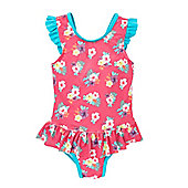 Pink Floral Swimsuit - Multi