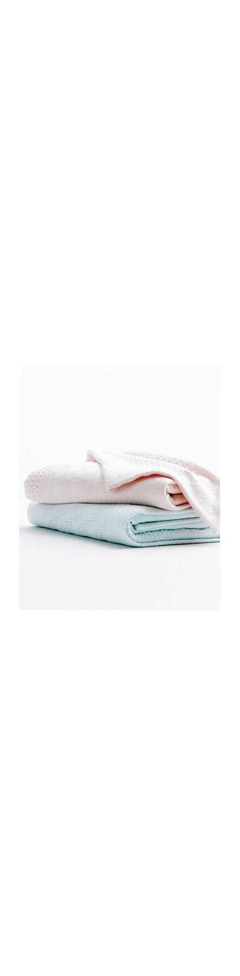 Mamas & Papas - Jacquard Blanket - To fit Pram/Moses Basket/Crib - Rose