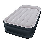 Intex Single Size Deluxe Pillow Rest Airbed with Built-in Electric Pump