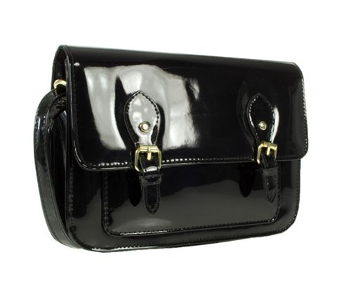 Barratts Patent Double Buckle Trim Mini Satchel