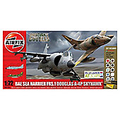 Airfix BAE Sea Harrier & a Douglas A-4P Skyhawk 1:72 Scale Model Set