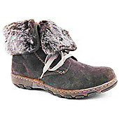 Ladies Rieker Rosanna Taupe Ankle Boots - Taupe