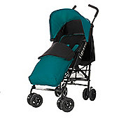 Obaby Atlas Black & Grey Stroller with Turquoise Footmuff/Turquoise Hood