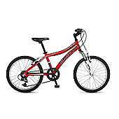 "Orbita Shark 20"" Wheel 6 Speed Lightweight Alloy Front Suspension Mountain Bike (Red)"
