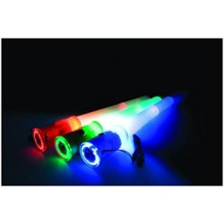 4 In 1 LED Blue Whistle Glow Stick And Flashlight/Torch Batteries Included