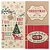 Tesco Tartan Christmas Cards, 30 Pack