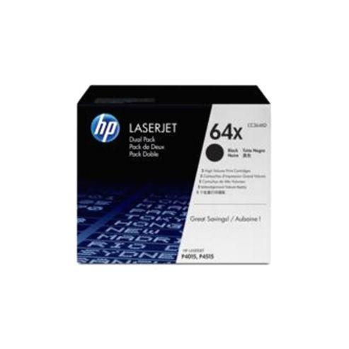 Bundle: HP 64X Black Smart Print Cartridge (Yield 24,000 Pages) Dual Pack for LaserJet P4015, P4515