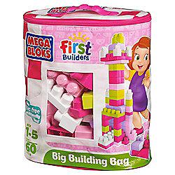 Mega Bloks First Builders Big Building Bag, Pink
