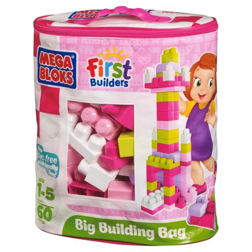 Mega Bloks First Builders Big Building Bag, Pink