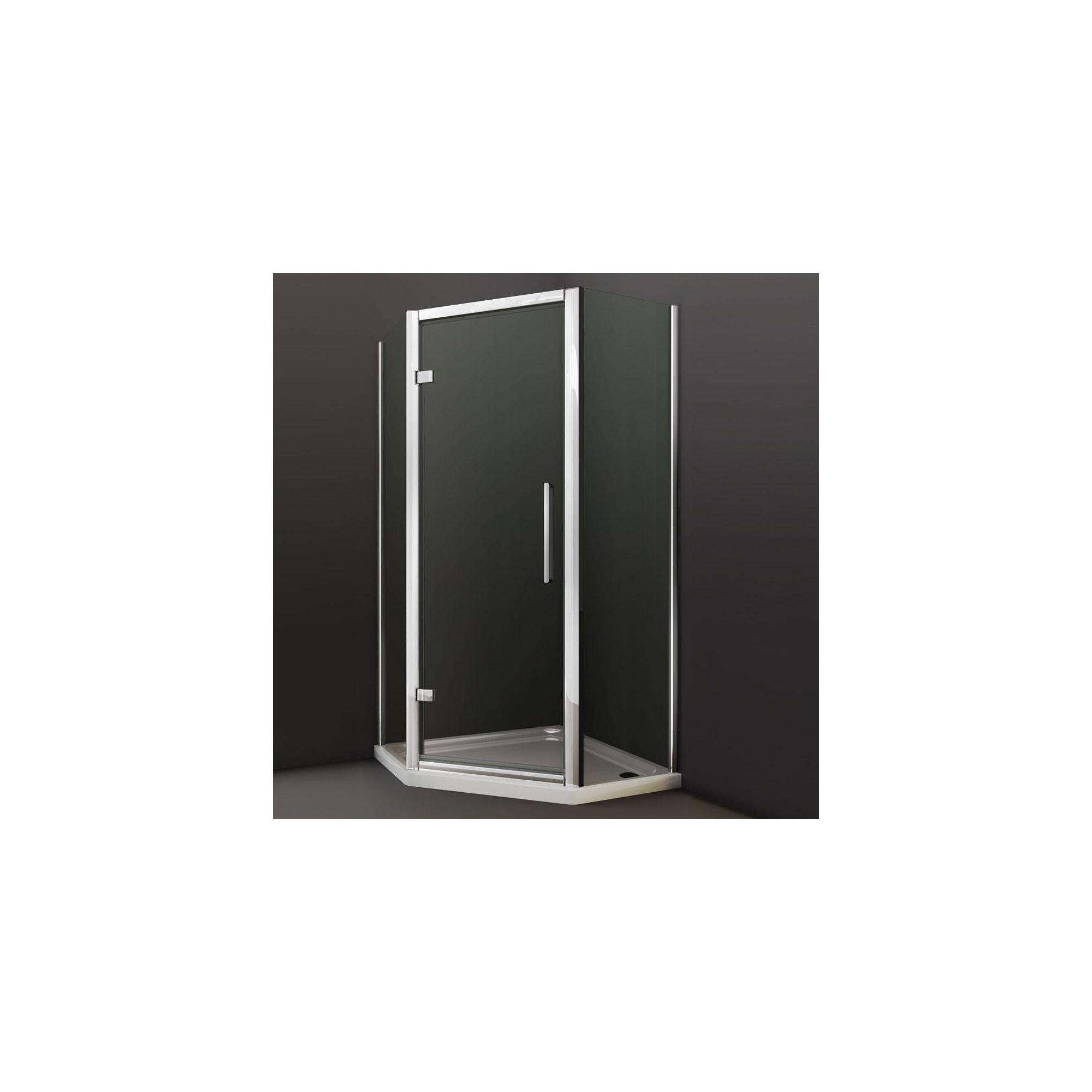 Merlyn Series 8 Pentangle Shower Door, 900mm x 900mm, Chrome Frame, 8mm Glass at Tesco Direct