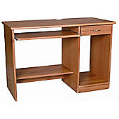 Abbey - Computer Desk / Workstation With Storage - Brown