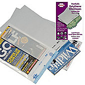Postsafe LightWeight Envelopes Polythene White Opaque C4 W235xH310mm Peel and Seal Ref PL23 [Pack 100]