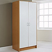 Elements Oslo Halden 2 Door Wardrobe - White