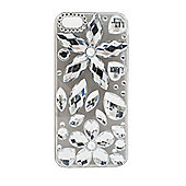Tortoise™ Look Hard Decorative Protective Case, iPhone 5/5S, Large Gems Design, Clear