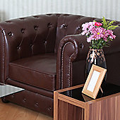 Premier Housewares Leather Chesterfield Chair - Antique