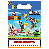 Super Mario Brothers Party Plastic Party Bags (8pk)