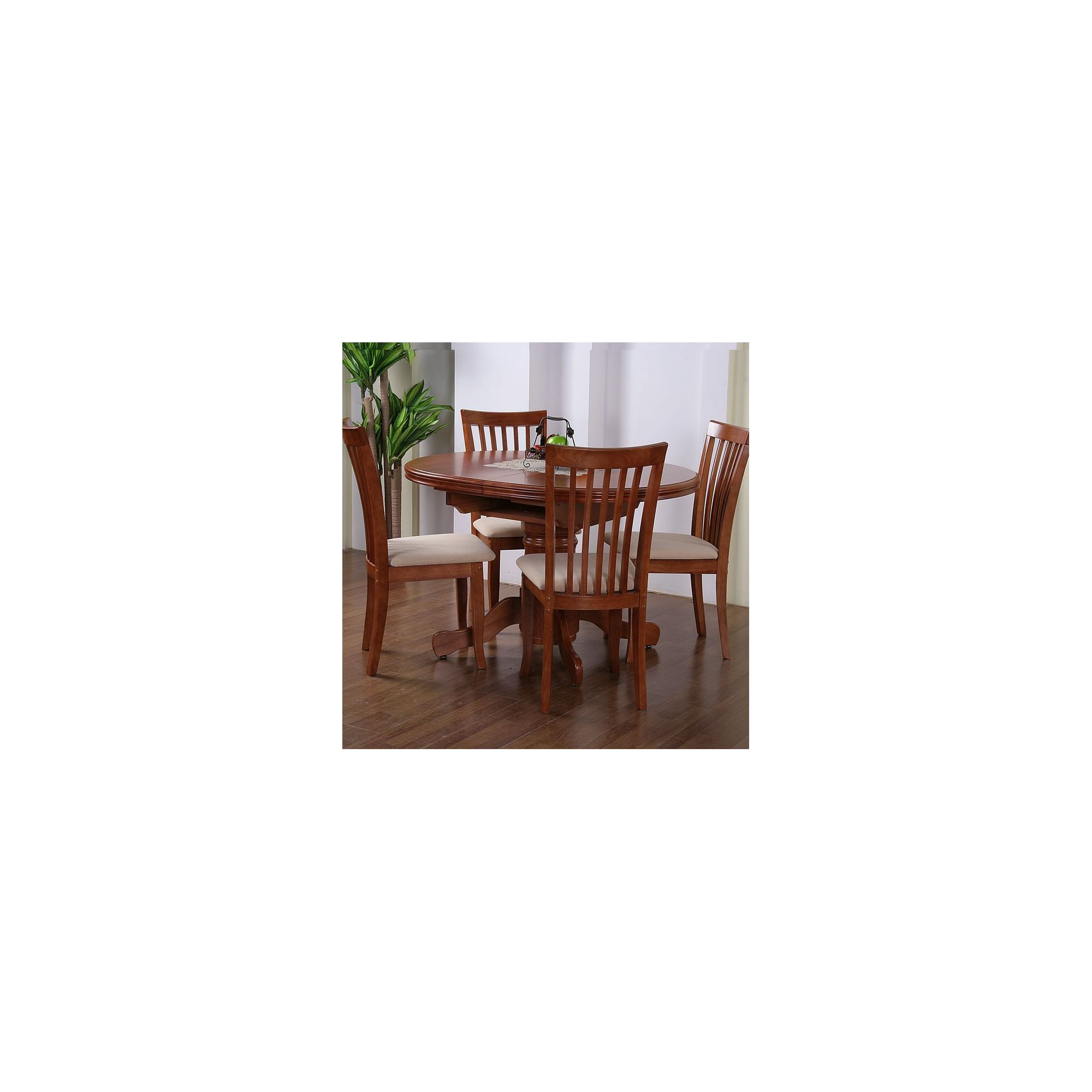 G&P Furniture Windsor House 5-Piece Stratford Oval Flip Top Extending Dining Set - Cherry at Tesco Direct