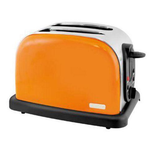 Lloytron E2017TG 2 Slice Wide Slot Toaster - Tangerine Steel