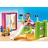 Playmobil City Life Children's Room with Loft Bed and Slide