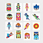 Star Hero Temporary Tattoos for Kid's Party Bags & Prizes (Pack of 24)