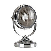Cooper Vintage Style Adjustable Headlight Table Lamp in Chrome
