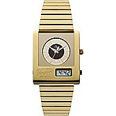 Original Penguin Gents Gold Tone Steel Bracelet Watch OP3013GD