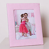 Pink Gingham Children's Photo Frame