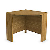 Urbane Designs Jazz Corner Computer Desk in Oak