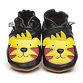 Cherry Kids Soft Leather Baby Shoes Tiger - Black