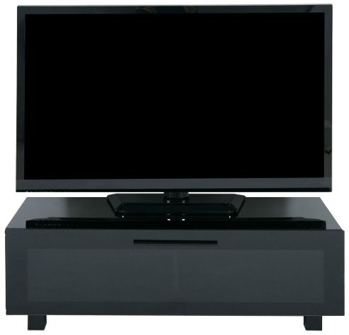 LEVV High Gloss Black TV Cabinet for Up To 50 inch TVs