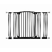 Dream Baby Extra-Tall Auto Close Hallway Security Gate with Extensions - Black