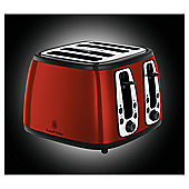 Russell Hobbs Heritage Metallic 4 Slice Toaster - Red