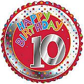 18' 10th Birthday Foil (each)