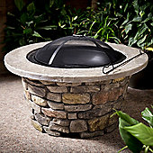 Heavy Duty Deluxe Stone Fire Pit and Patio Heater
