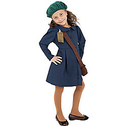 WW2 Girl - Child Costume 7-9 years