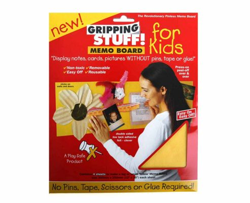 Memo Board For Kids Yellow - Gripping Stuff