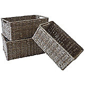 Wicker Valley Seagrass Storage Basket 3 Piece Set