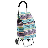 Typhoon Foldable Shopping Trolley, Purple Stripe