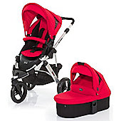ABC Design Cobra 3 in 1 Pushchair & Carrycot (Silver/Cranberry)