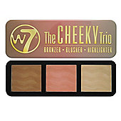 w7 The Cheeky Trio Palette Bronzer Blusher Highlighter 3 x 7g