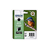 Epson Kingfisher T1591 UltraChrome Hi-Gloss2 Black Ink Cartridge for R2000