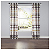 Ombre Stripe Lined Eyelet Curtains - Natural