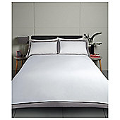 Tesco Oxford Edge Duvet Set Silver, Double