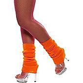 Leg Warmers Neon Orange