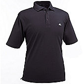John Letters Mens Ailsa Pique Golf Polo Shirt - Black
