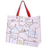 Puckator London Map Shopping Bag