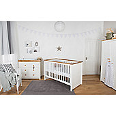 Little House Nursery Furniture Room Set with Sprung Mattress - Littledale Collection