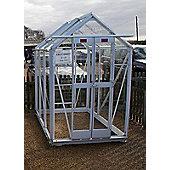 Elite Compact Greenhouse – 4 x 6 - White Powdercoat Finish – Toughened Glass