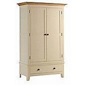 Kelburn Furniture Fanshawe Painted Double Wardrobe with Drawer