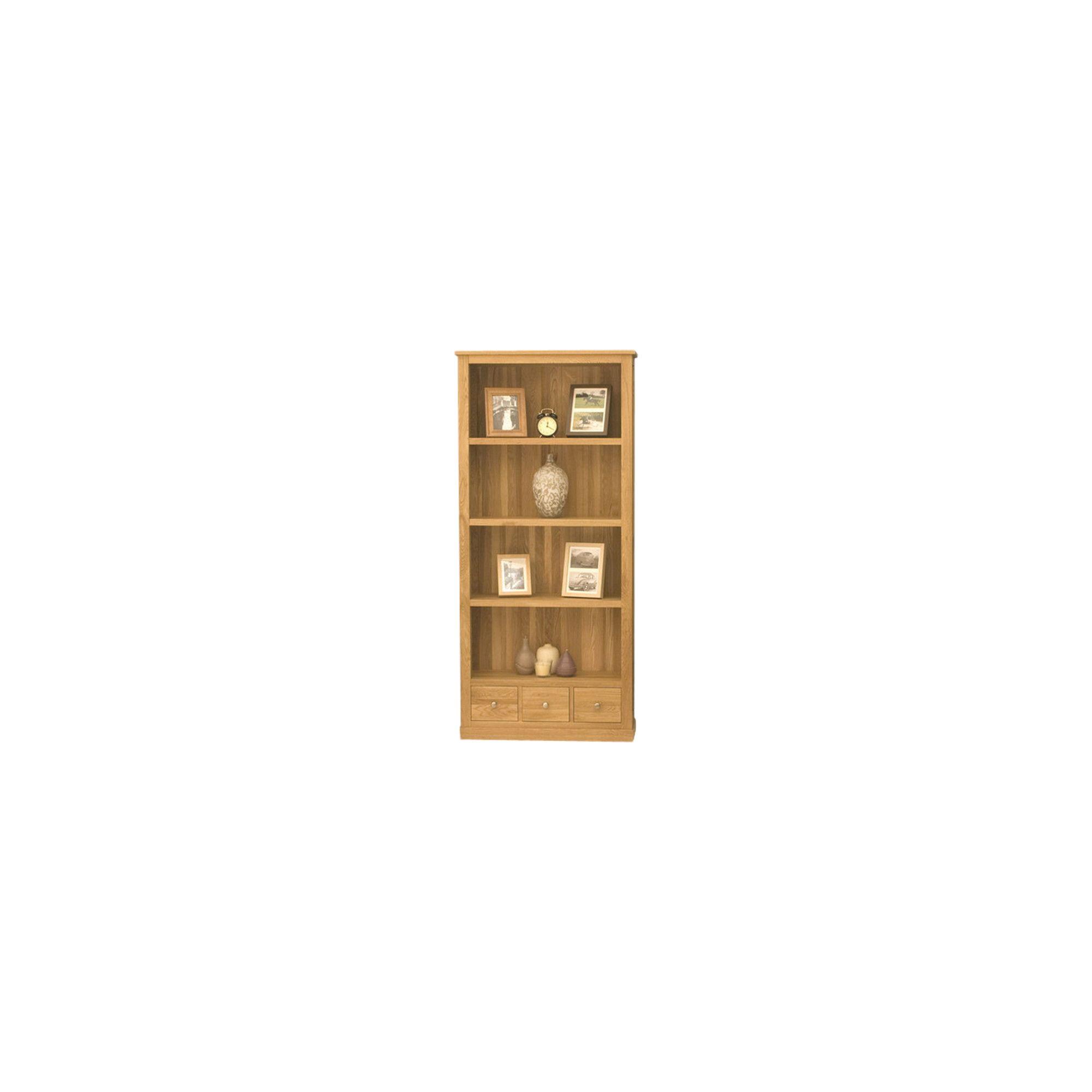 Baumhaus Mobel Oak Large 3 Drawer Bookcase at Tesco Direct